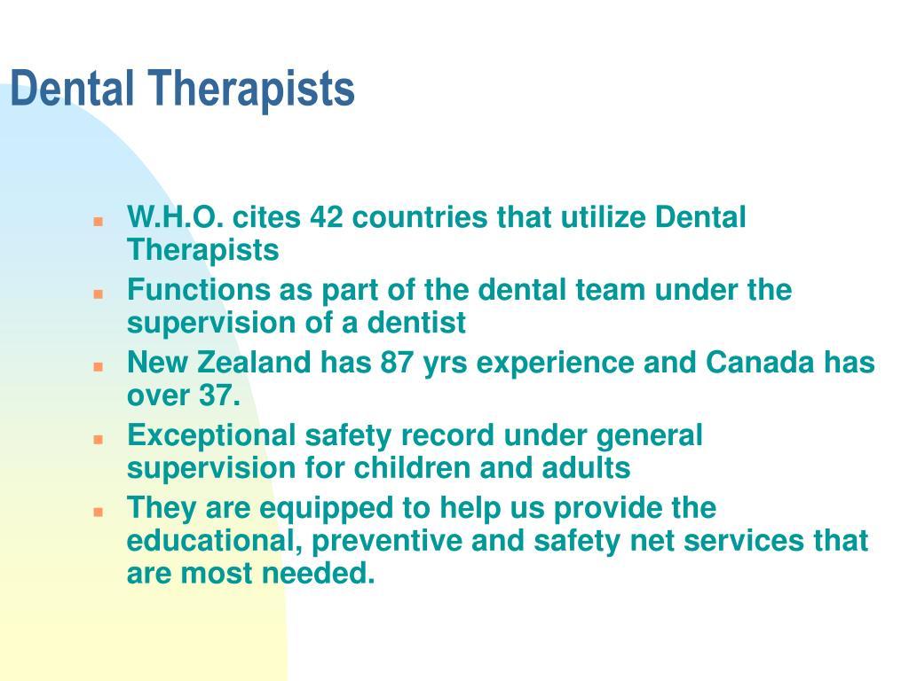 Dental Therapists