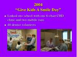 2004 give kids a smile day