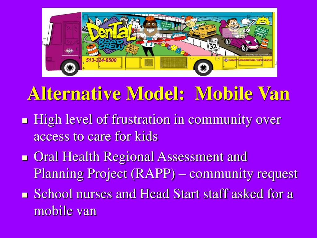 Alternative Model:  Mobile Van