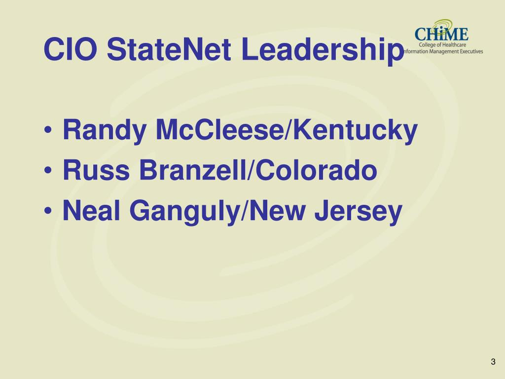CIO StateNet Leadership