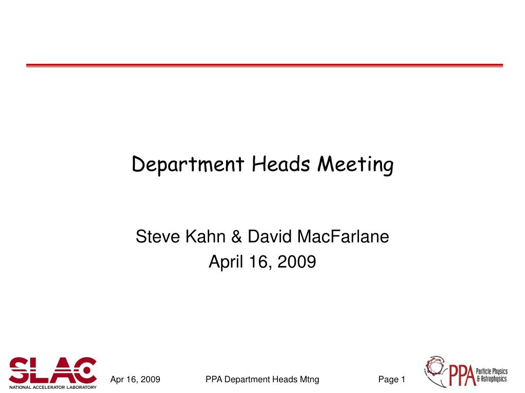 department heads meeting