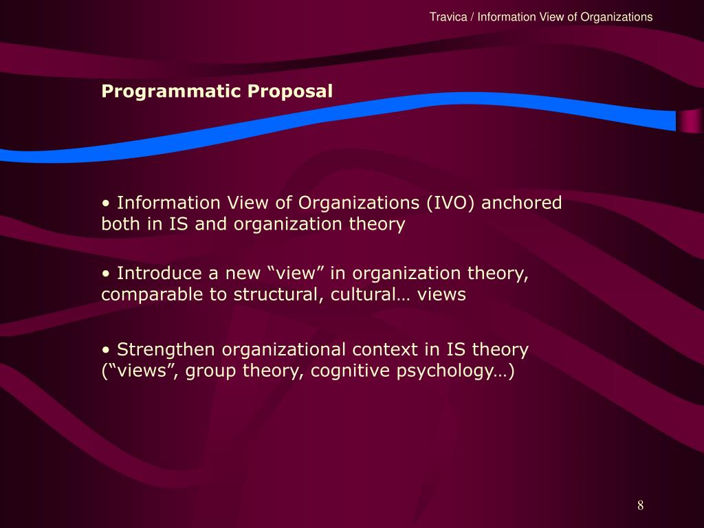 Programmatic Proposal