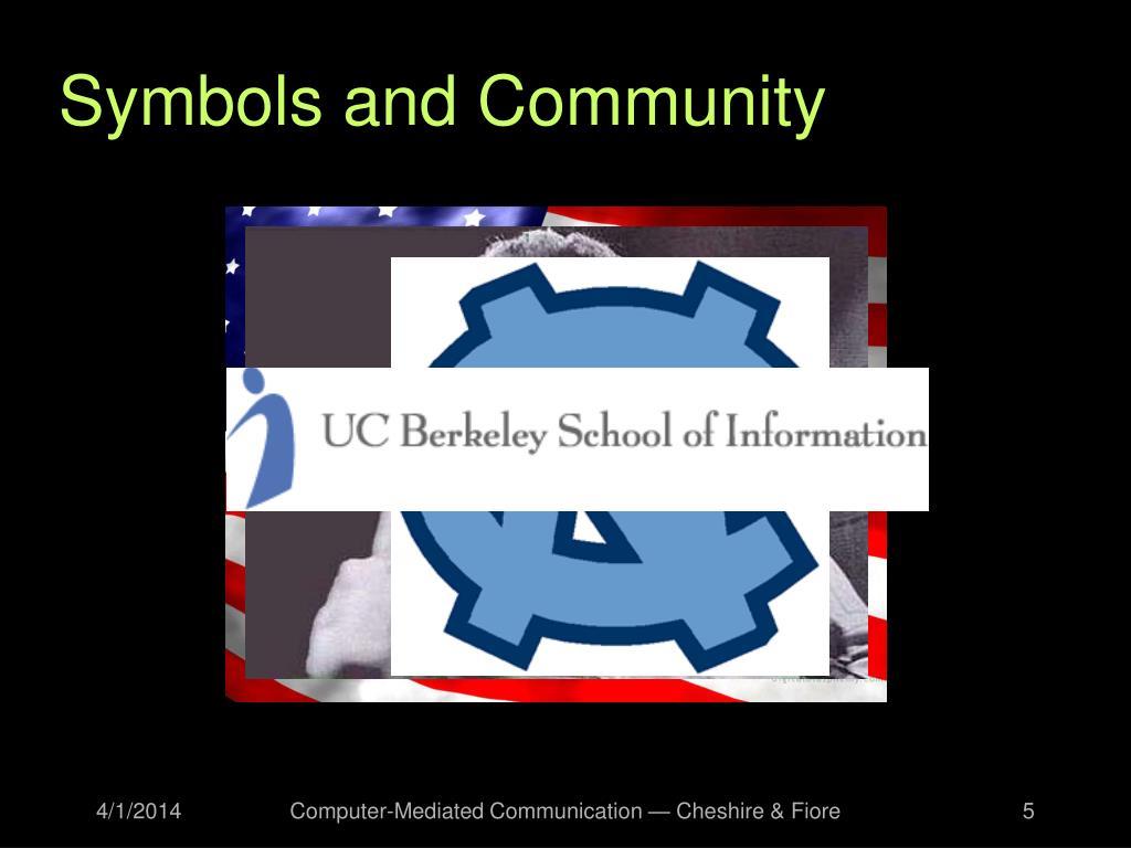 Symbols and Community