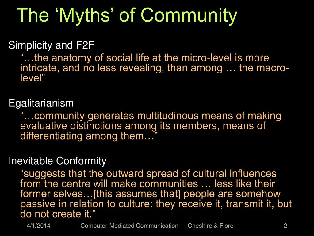 The 'Myths' of Community