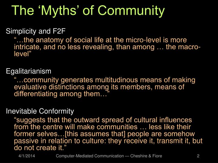 The myths of community l.jpg