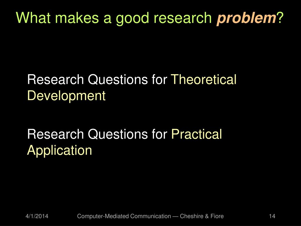 What makes a good research