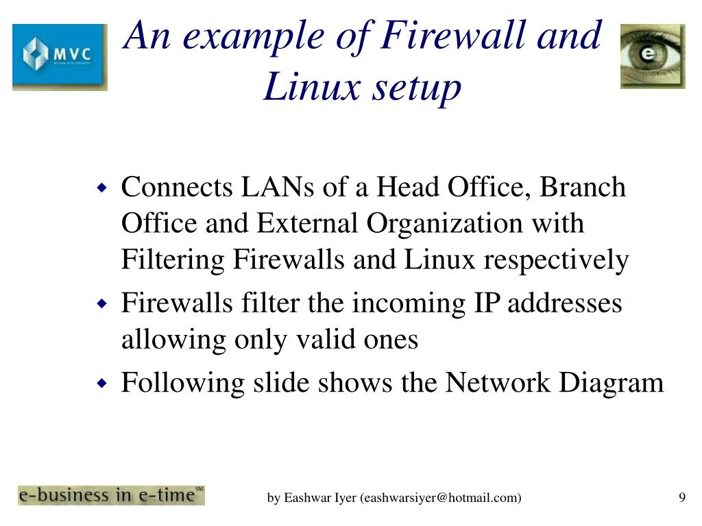 An example of Firewall and Linux setup