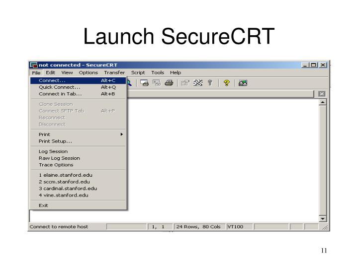 Launch SecureCRT