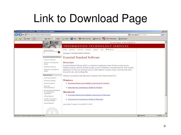 Link to Download Page
