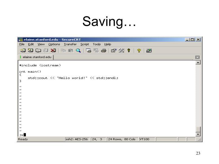 Saving…