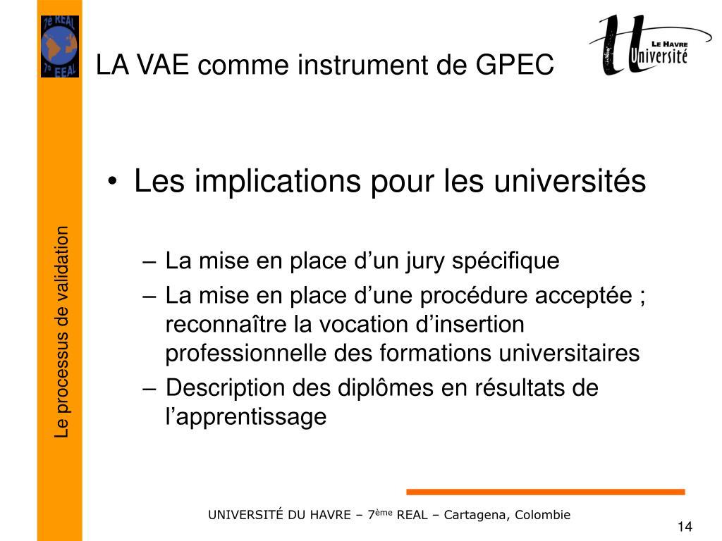 Les implications pour les universités
