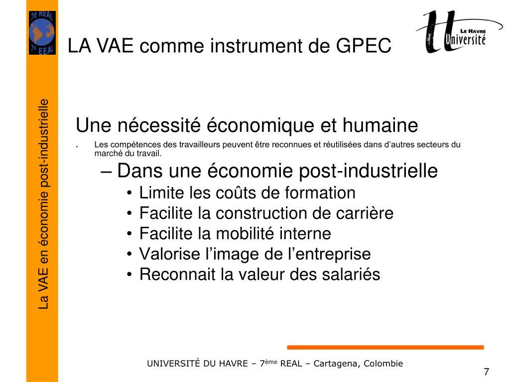 Une nécessité économique et humaine