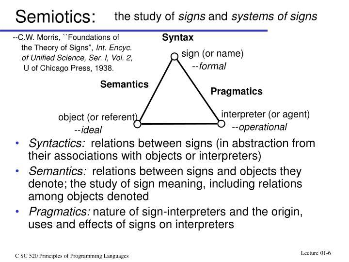 Semiotics: