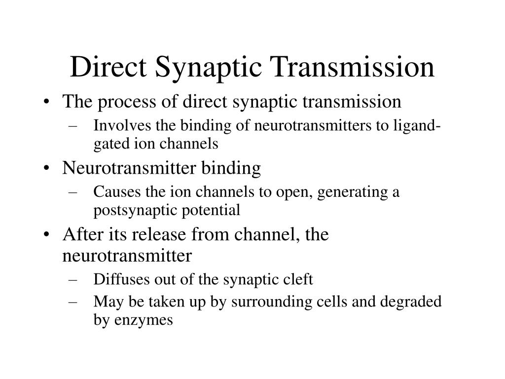 Direct Synaptic Transmission