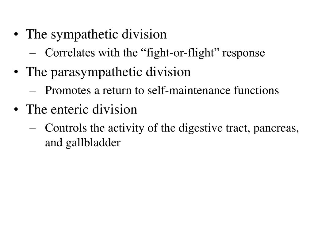 The sympathetic division