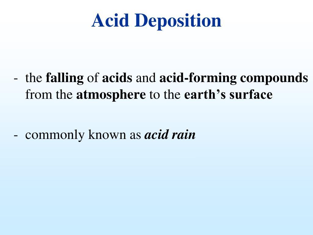 Acid Deposition