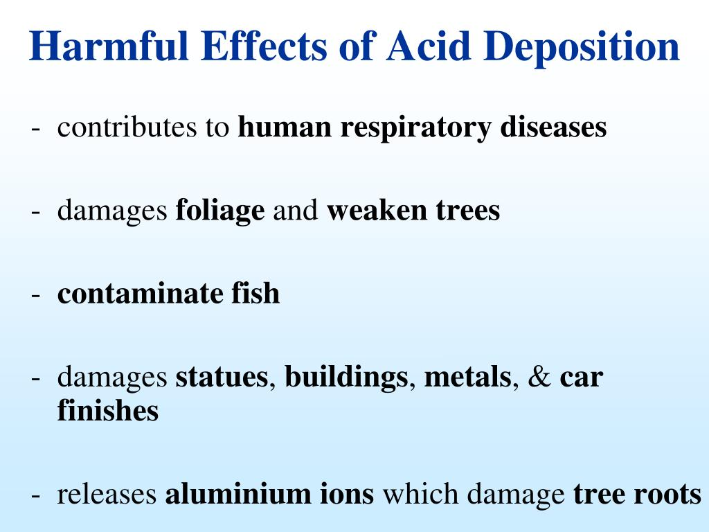 Harmful Effects of Acid Deposition