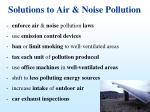 solutions to air noise pollution