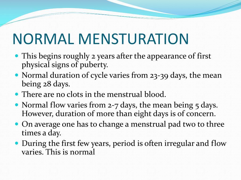 NORMAL MENSTURATION