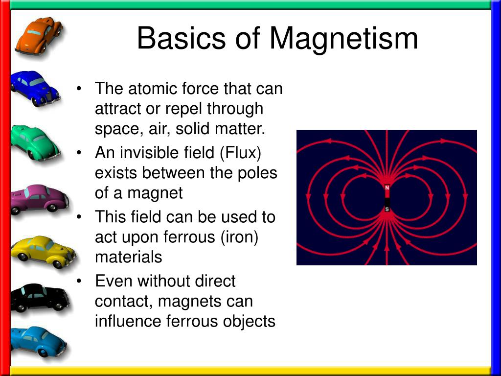 basics of magnetism Magnetic field consists of invisible and imaginary lines emitting from the north pole and terminating at south pole these lines are called magnetic lines of force basic electronics disqus comments magnetism rules book traversal links for magnetism magnetic flux up magnetism.