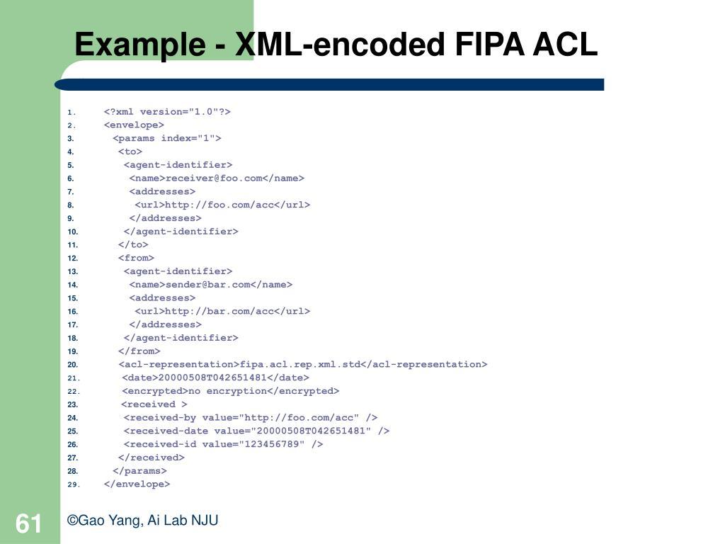 Example - XML-encoded FIPA ACL