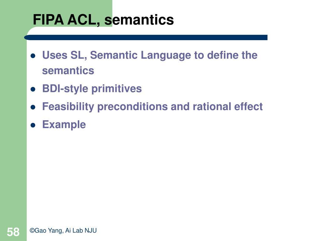 FIPA ACL, semantics