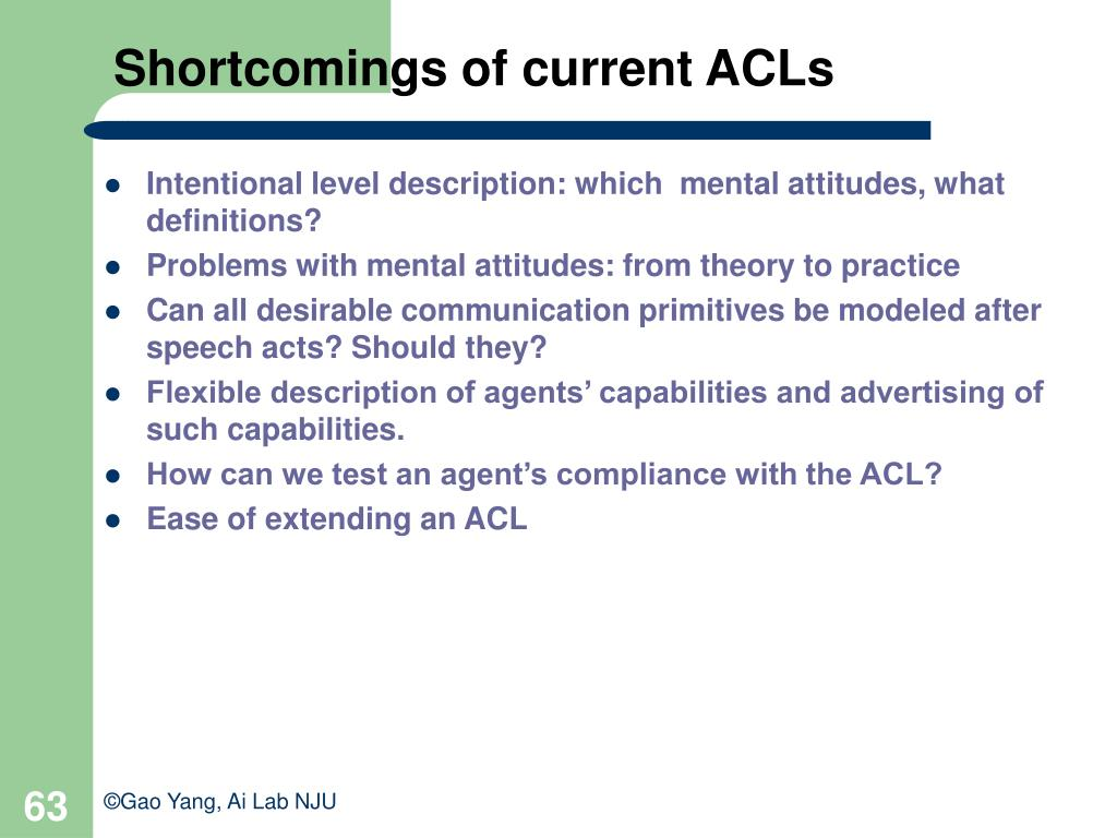 Shortcomings of current ACLs
