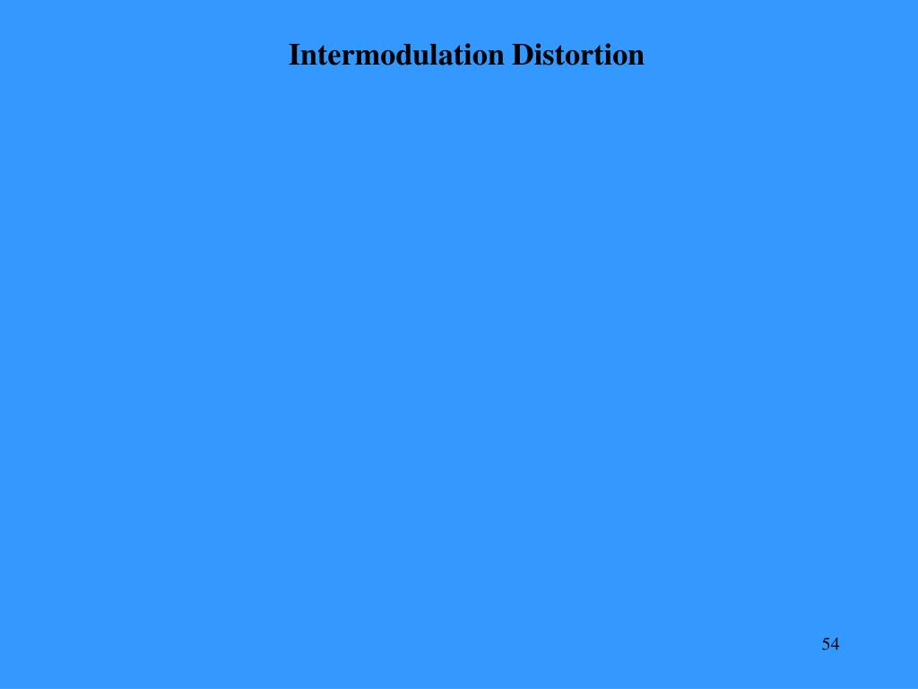 Intermodulation Distortion