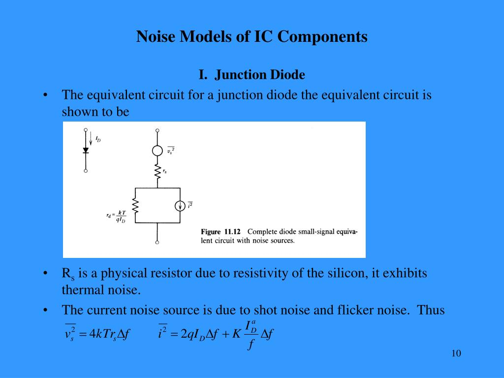Noise Models of IC Components