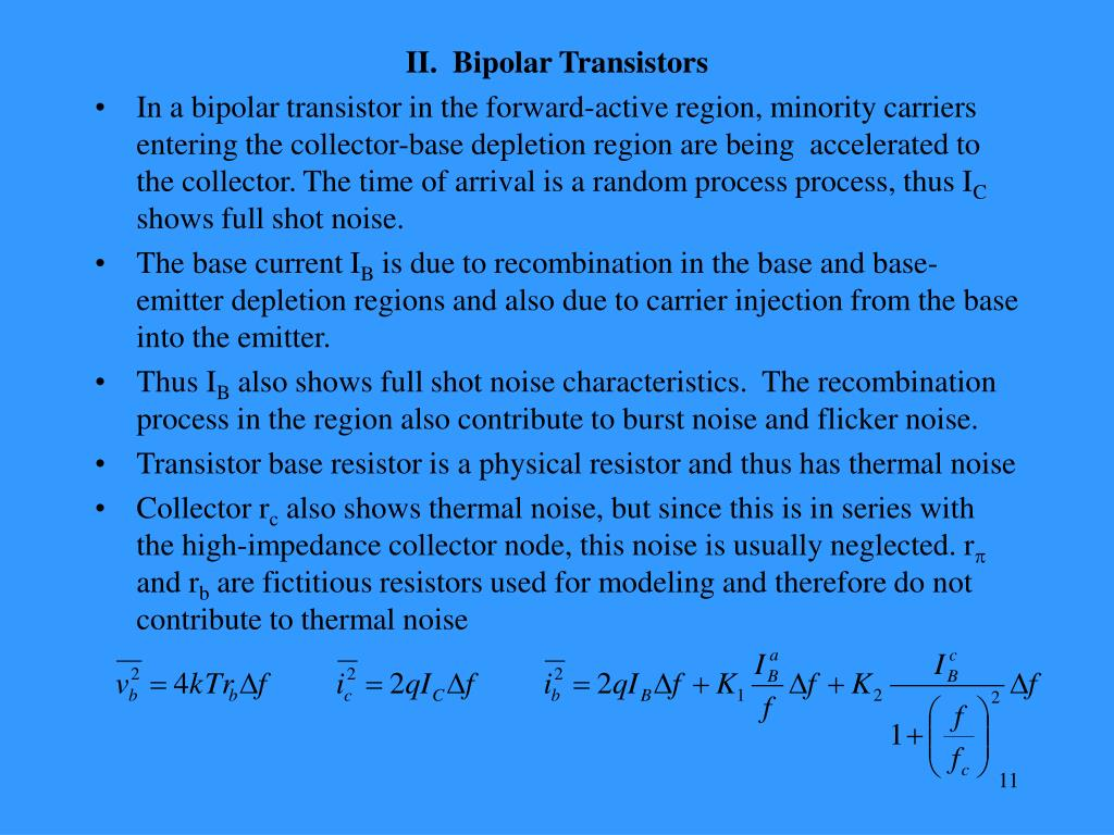 II.  Bipolar Transistors