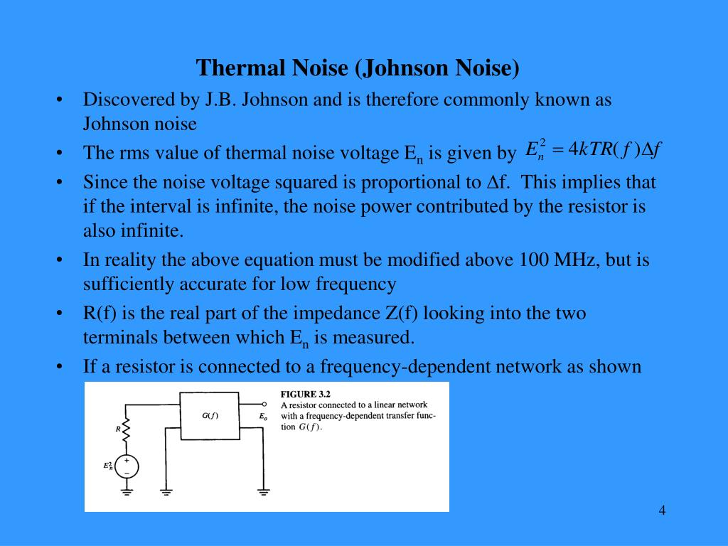 Thermal Noise (Johnson Noise)