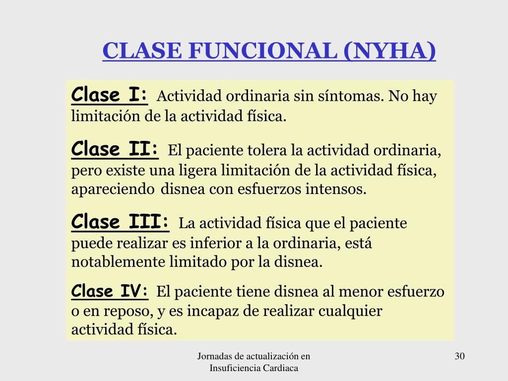CLASE FUNCIONAL (NYHA)
