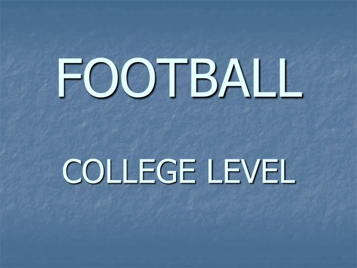 Football college level