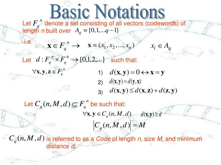 Basic Notations