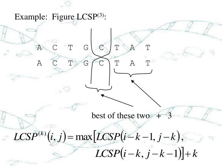 Example:  Figure LCSP