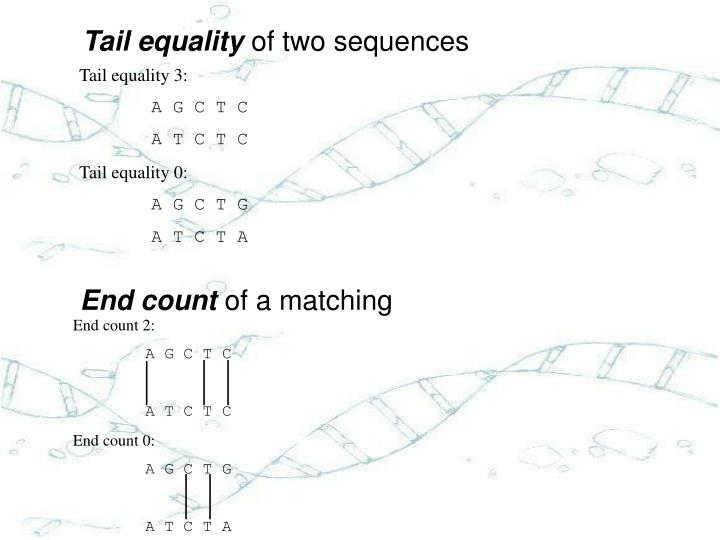 Tail equality