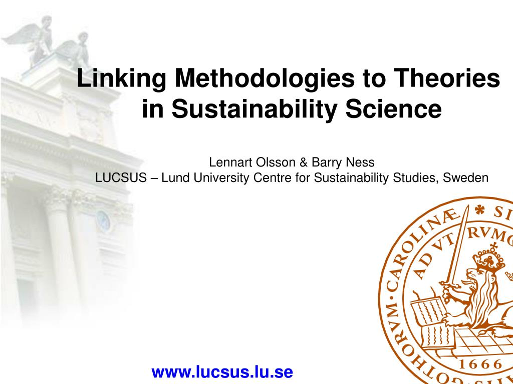 Linking Methodologies to Theories