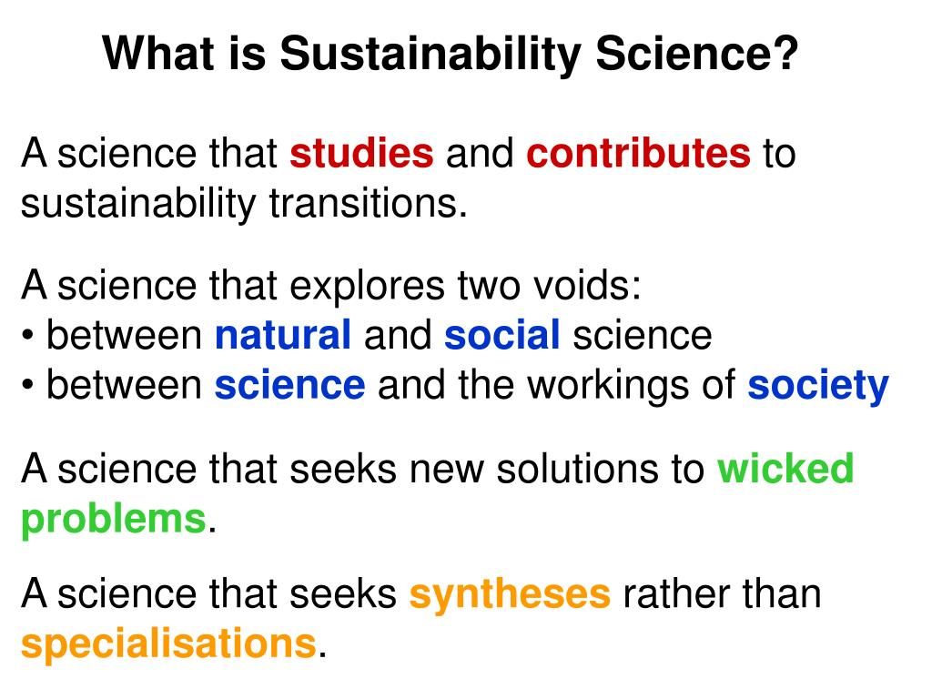 What is Sustainability Science?