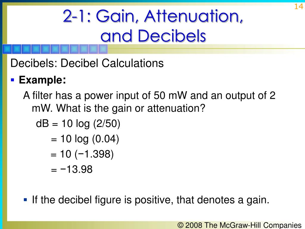 2-1: Gain, Attenuation,