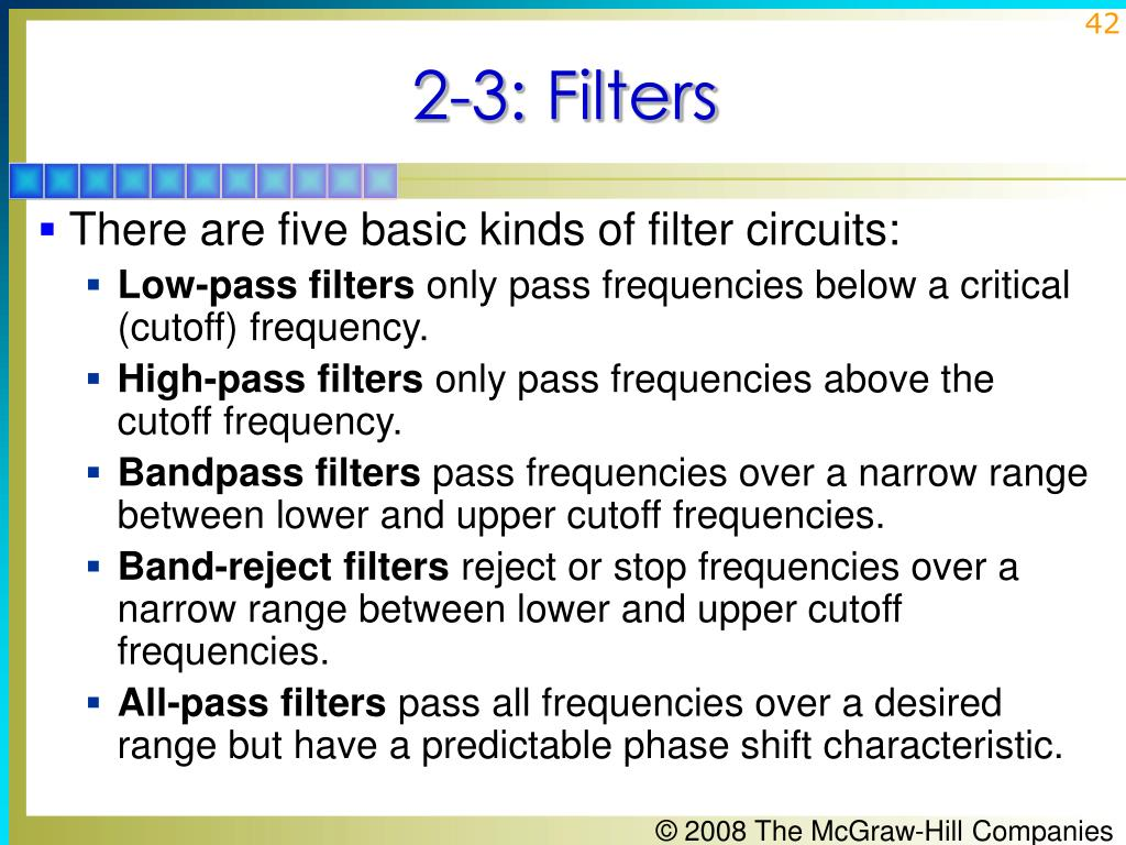2-3: Filters