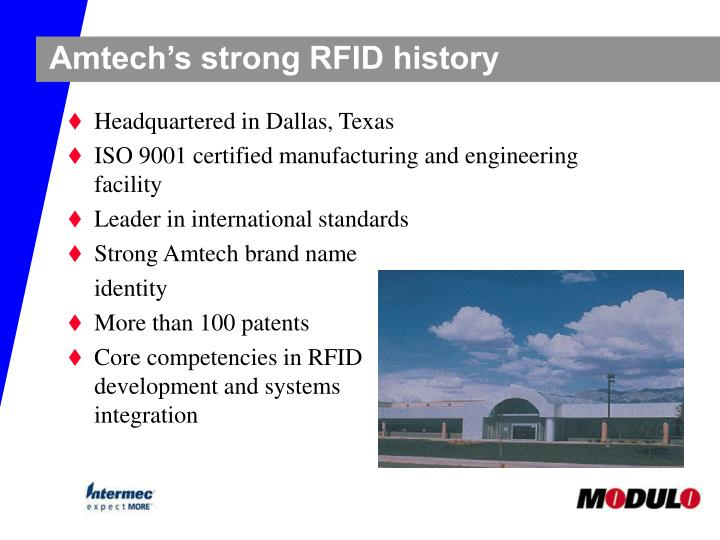 Amtech's strong RFID history