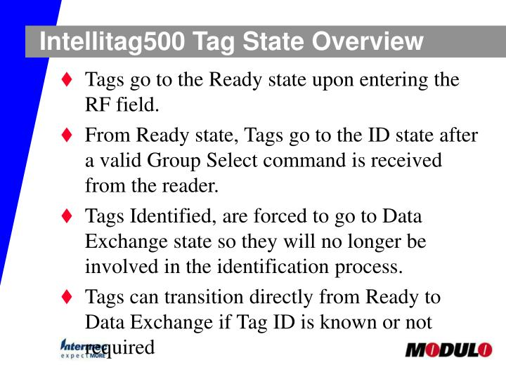 Intellitag500 Tag State Overview