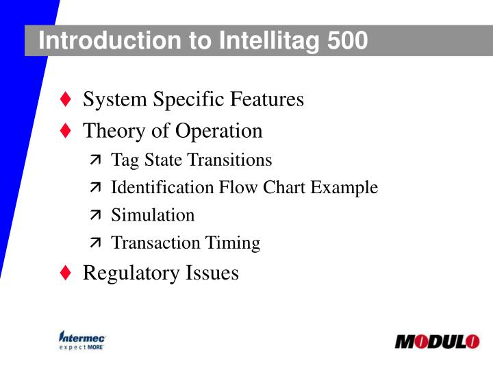 Introduction to Intellitag 500