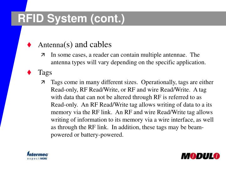 RFID System (cont.)