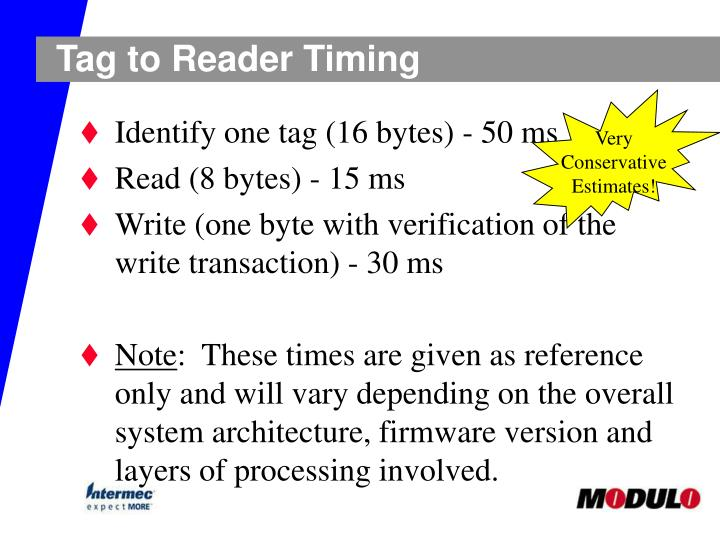Tag to Reader Timing