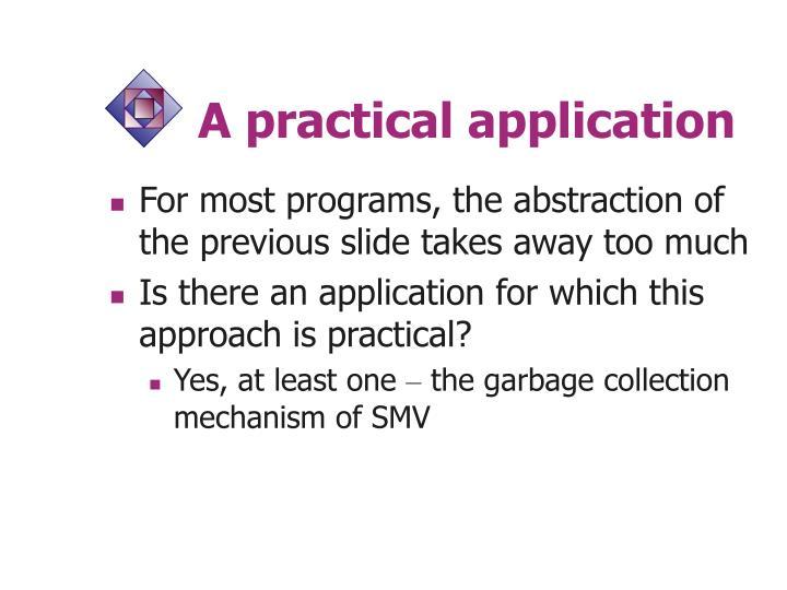 A practical application