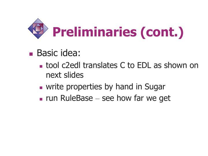 Preliminaries (cont.)
