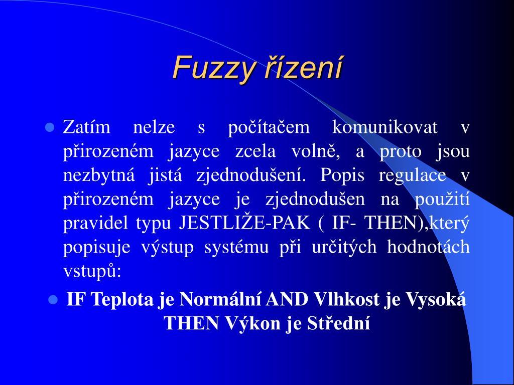 Fuzzy řízení