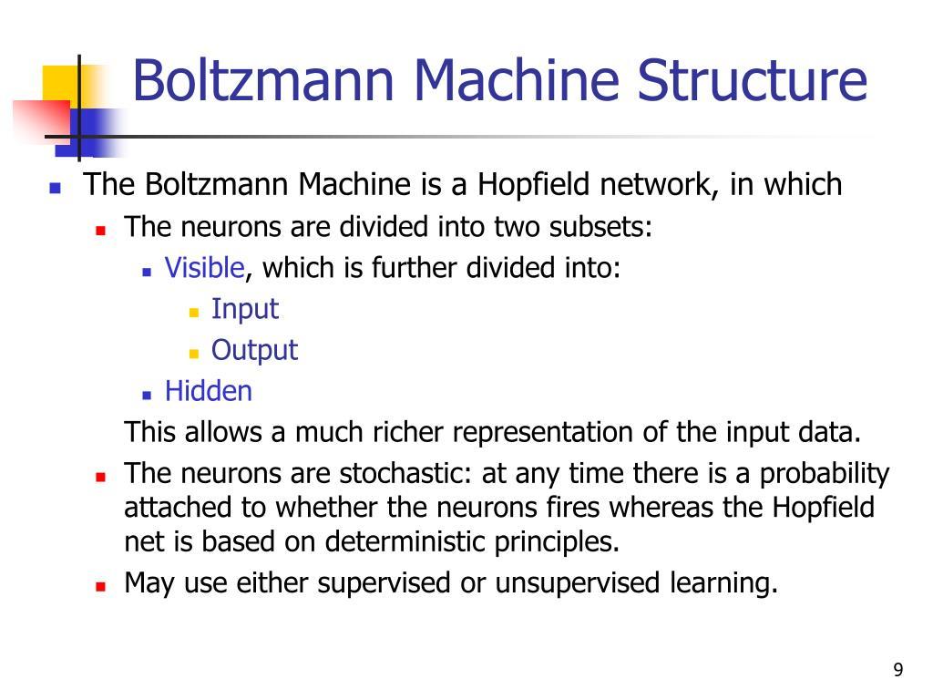 Boltzmann Machine Structure