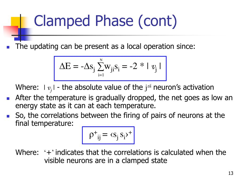 Clamped Phase (cont)